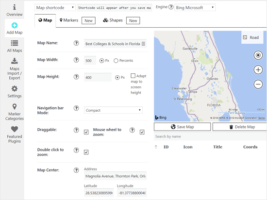 Add Bing map using a plugin