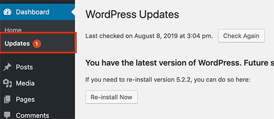Поддерживайте свой сайт WordPress в актуальном состоянии