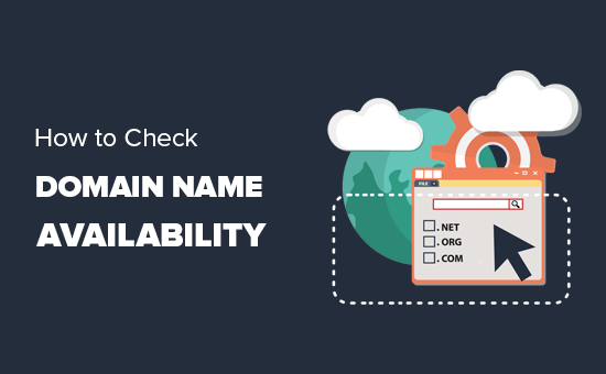 Checking for domain name availability using domain search tools