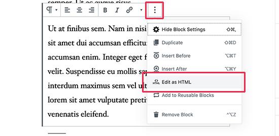 Edit sebagai HTML