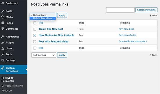 Manage your custom permalinks