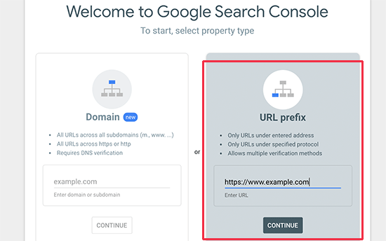 Add website URL