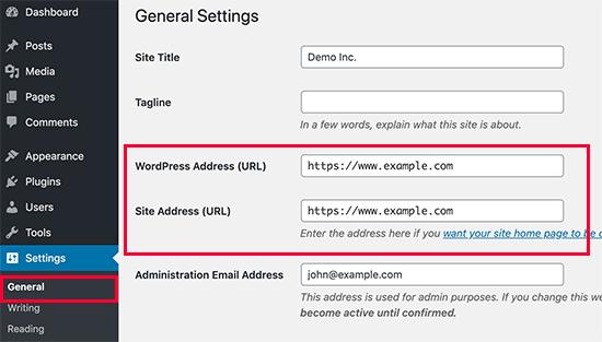 Non-www or www in WordPress URLs