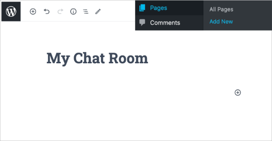 Create your chat room page