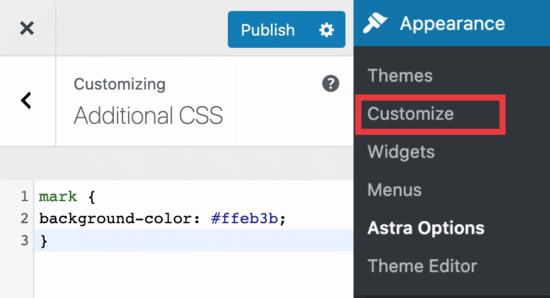 Custom CSS settings