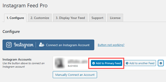Add your Instagram posts to your primary feed