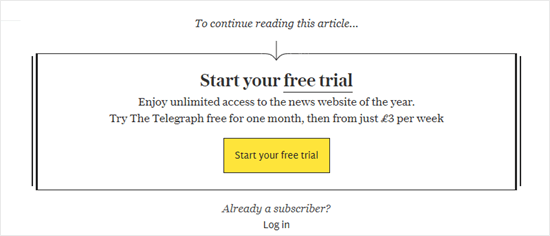 The Daily Telegraph's paywall