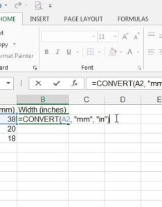 How to convert mm inches in excel also solve your tech rh solveyourtech