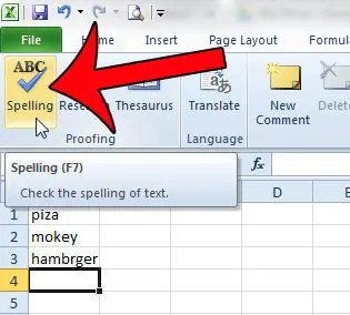 How to Spell Check a Worksheet in Microsoft Excel 2010 - Solve Your Tech