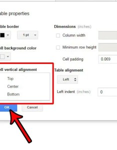 How to change cell vertical alignment in google docs also table cells rh solveyourtech