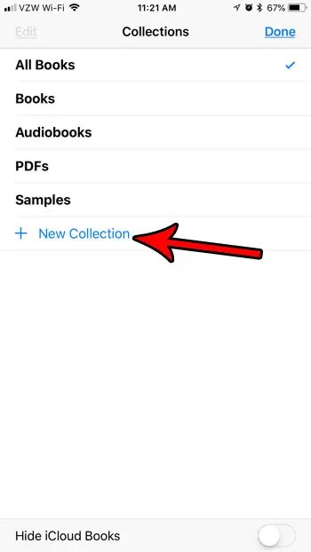 How to Create a New Collection in iBooks on an iPhone