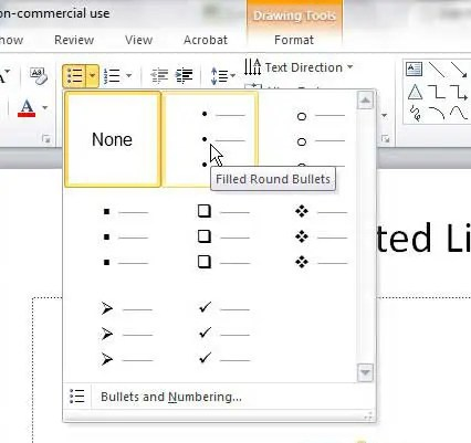 how to insert bullets in powerpoint 2010