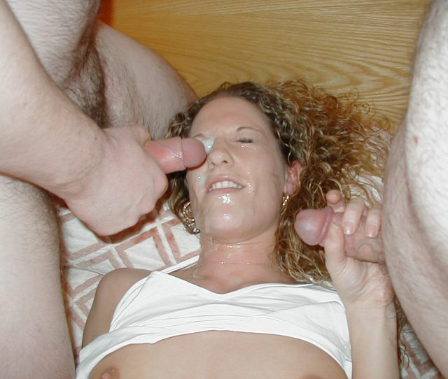Young British Slut Wife Bukkake Whore