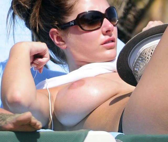 Lucy Pinder Topless Sunbathing Her Massive Boobs