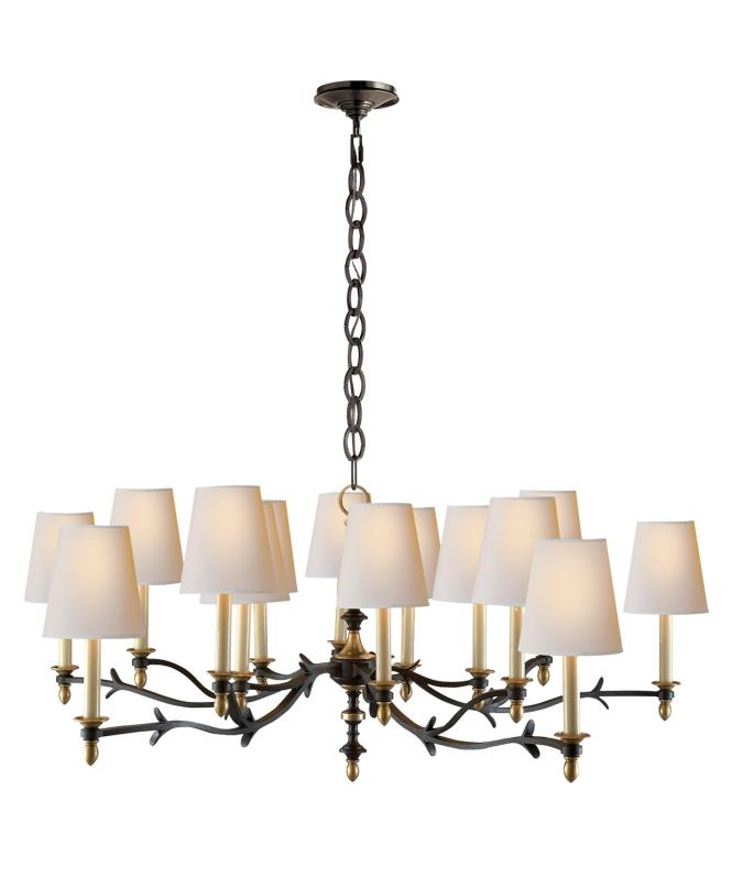 Shown In Black And Brass Finish Natural Paper Shade