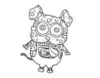 Disegno di Cane Minion da Colorare - Acolore.com