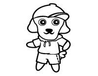 Disegno di Cane scout da Colorare - Acolore.com