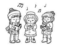 Disegno di Cantanti di Natale da Colorare