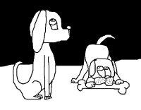 Disegno di Due cani da Colorare - Acolore.com