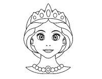 Disegno di Faccia principessa da Colorare - Acolore.com