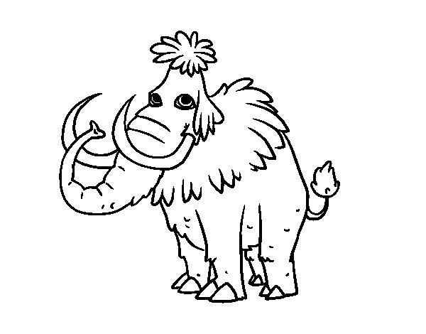 Disegno di Mammuth preistorico da Colorare