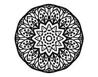 Disegno di Mandala natura da Colorare - Acolore.com