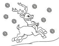 Disegno di Natale Renna da Colorare - Acolore.com