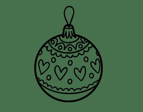 Disegni Di Palline Di Natale Da Colorare.Disegno Di Palline Di Natale Timbrato Da Colorare