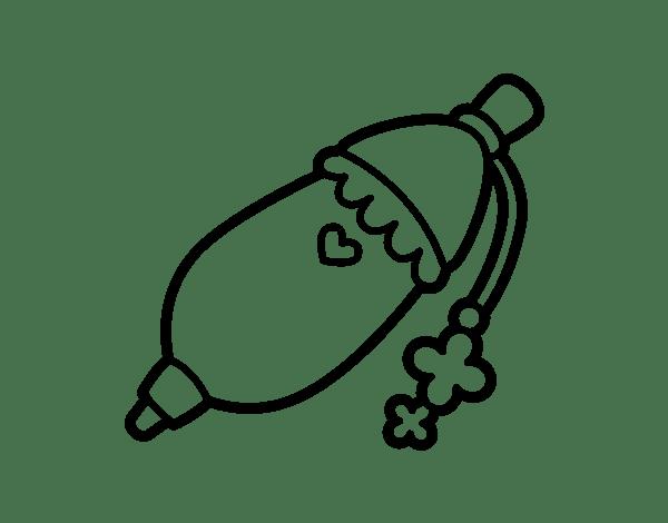 Disegno di Penna a sfera di ragazza da Colorare