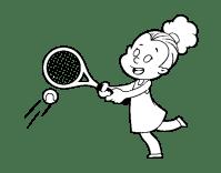 Disegno di Ragazza giocando a tennis da Colorare - Acolore.com
