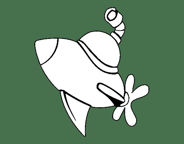 Disegno Di Sottomarino Alla Superficie Da Colorare