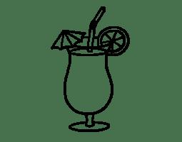 Two Cocktails Coloring Page Coloringcrewcom Sketch ...