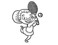 Disegno di Tennista da Colorare - Acolore.com