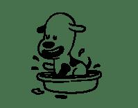 Disegno di Un cagnolino nella vasca da bagno da Colorare ...
