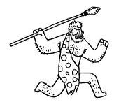 Disegno di Un uomo delle caverne da Colorare