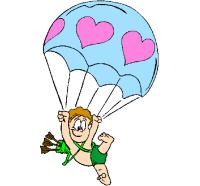 Disegno Cupido in paracadute colorato da Utente non ...