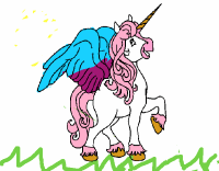 Disegno Unicorno con le ali colorato da Utente non ...
