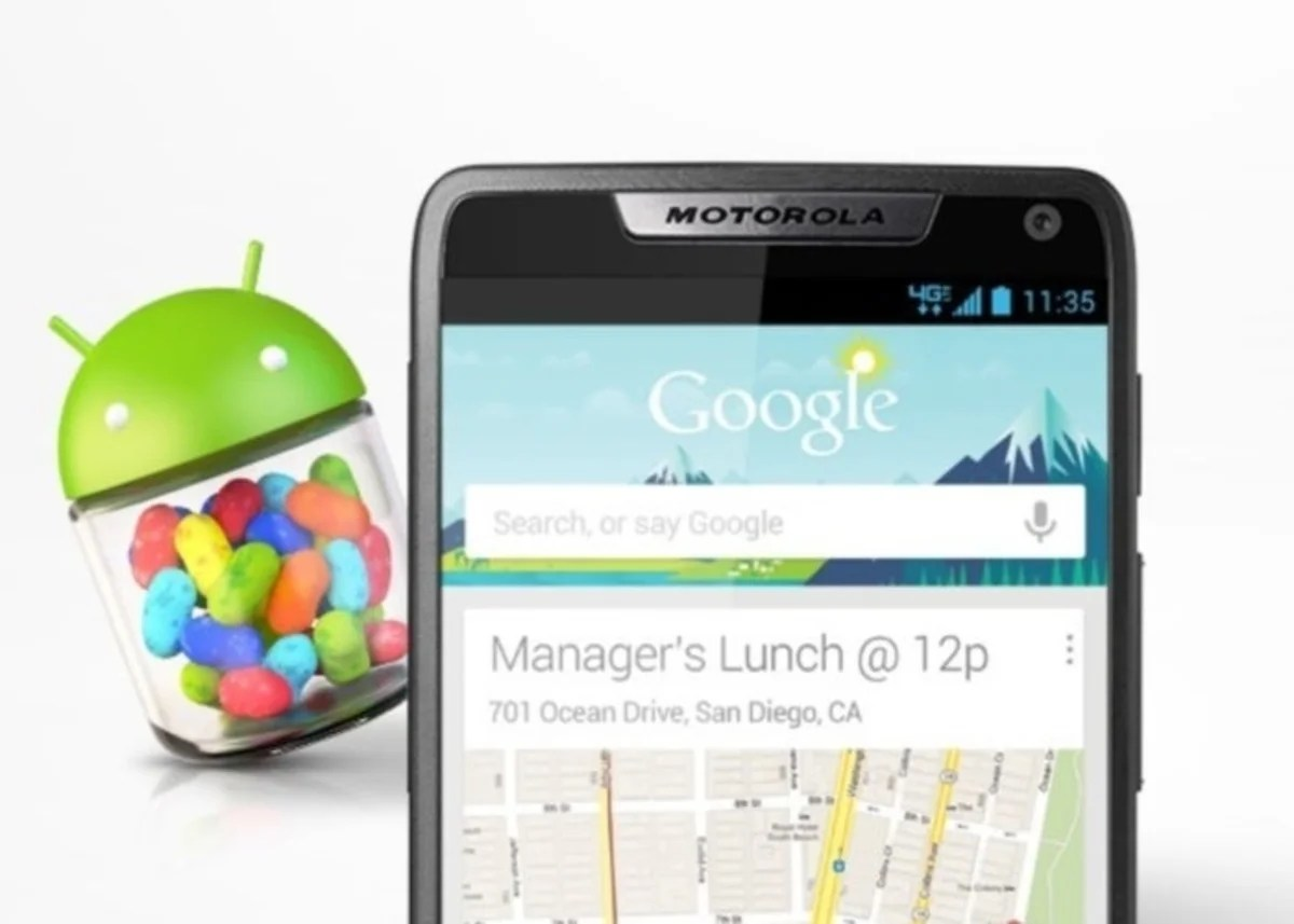 Motorola actualiza a Android Jelly Bean