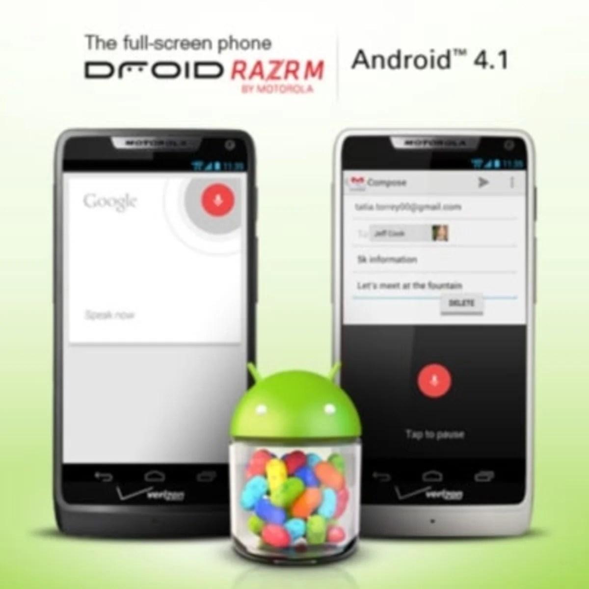 Actualización del Motorola Droid RARZ M a Android Jelly Bean