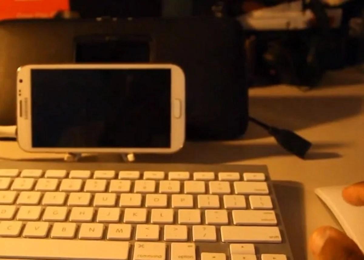 Samsung Galaxy Note II funcionando como un PC