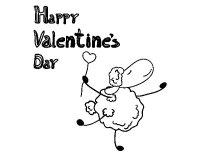 A Happy Valentine's Day coloring page - Coloringcrew.com