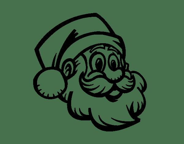 a santa face coloring page  coloringcrew