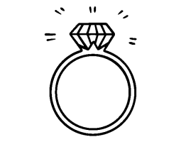 An engagement ring coloring page   Coloringcrew.com