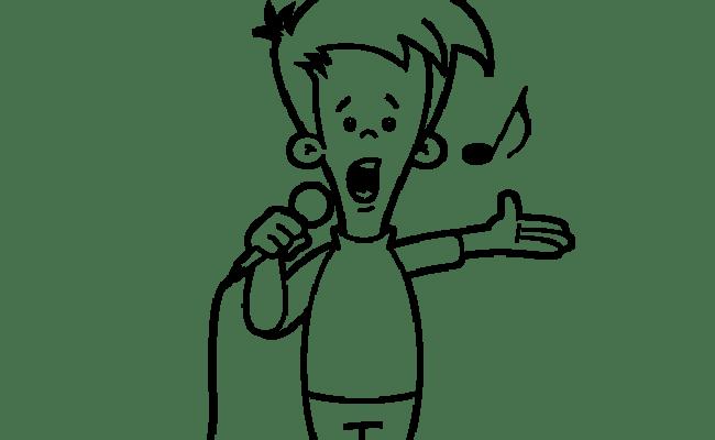 Singing Coloring Pages Kidsuki
