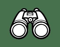 Binoculars coloring page   Coloringcrew.com