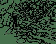 Cascada Para Colorear Cascada 8