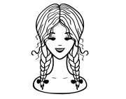 hairstyle two braids coloring