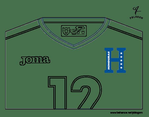 Honduras World Cup 2014 t-shirt coloring page