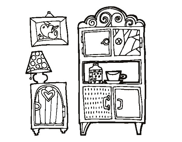 Furniture Living Room Coloring Pages Coloring Pages