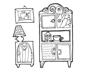 Living room furniture coloring page Coloringcrew com